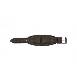 Bracelet de montre Fossil JR1365 Cuir Brun 25mm