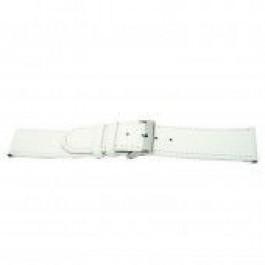 Bracelet de montre Universel I505 Cuir Blanc 24mm