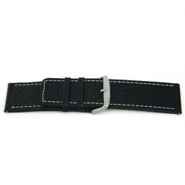 Bracelet de montre Universel L125 Cuir Noir 30mm