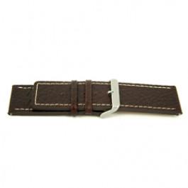 Bracelet de montre Universel L320 Cuir Brun 30mm