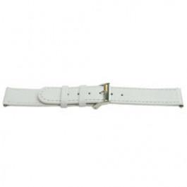 Bracelet de montre Universel E500 Cuir Blanc 16mm