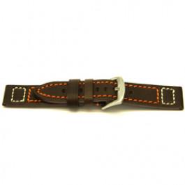 Bracelet de montre Universel H394 Cuir Brun 22mm