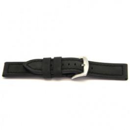 Bracelet de montre en cuir noire 24mm I103