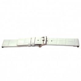 Bracelet de montre Universel I520 Cuir croco Blanc 24mm