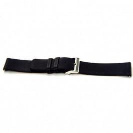 Bracelet de montre Universel I105 Cuir Noir 24mm