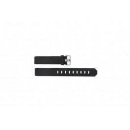 Bracelet de montre Jacob Jensen 712 / 732 / 742 / 743 / 640 / 641 / 660 / 662 / 680 / 681 Caoutchouc Noir 17mm