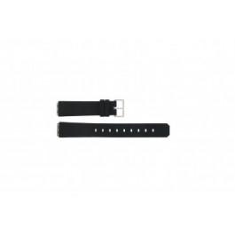 Bracelet de montre Jacob Jensen 100 / 130 square Caoutchouc Noir 15mm