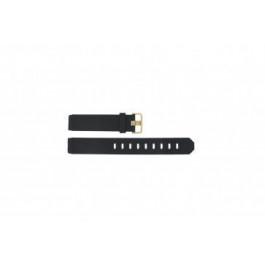Bracelet de montre Jacob Jensen 734 / 735 / 744 / 745 Caoutchouc Noir 17mm