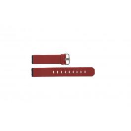 Bracelet de montre Jacob Jensen 800 Series Cuir Rouge 17mm