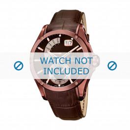 Bracelet de montre Jaguar J680-A Cuir Brun 22mm