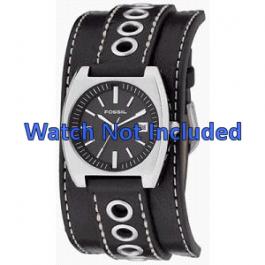 Bracelet de montre Fossil JR8205 Cuir Noir 16mm