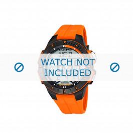 Bracelet de montre Calypso K5607-1 Caoutchouc Orange 20mm