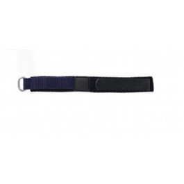 Bracelet de montre Universel KLITTENBAND 412 14mm Velcro Bleu 14mm