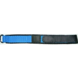 Bracelet de montre Condor KLITTENBAND 412R Licht Blauw Velcro Bleu 20mm