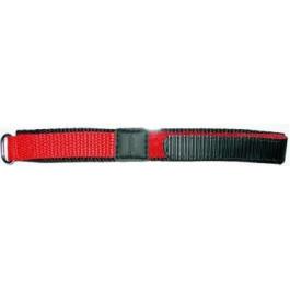 Bracelet de montre Universel KLITTENBAND 412R Velcro Rouge 20mm