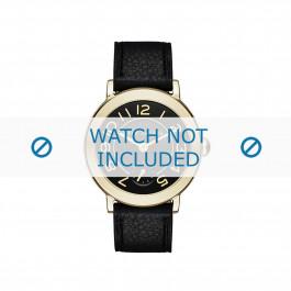 Marc by Marc Jacobs bracelet de montre MJ1471 Cuir Noir 14mm + coutures noires