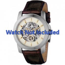 Bracelet de montre Fossil ME1026 Cuir Brun 22mm