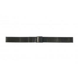 Bracelet de montre Universel 18.1.5-ST-ZW Milanais Noir 18mm