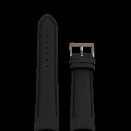 Bracelet de montre Nautica A15102G / NAPSDG003 Silicone Noir 22mm