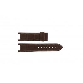 Bracelet de montre Guess GC41501G / 145003G1 / I50001G1 Cuir Brun foncé 12.8mm