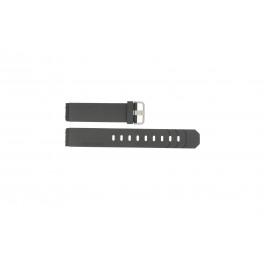 Bracelet de montre Jacob Jensen 600 / 800 Caoutchouc Noir 19mm