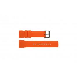 Bracelet de montre Pulsar W861-X006 / PQ2013X1 / PP102X Caoutchouc Orange 24mm