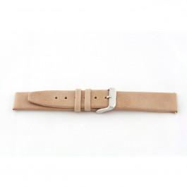 Bracelet de montre en cuir beige 24mm G33