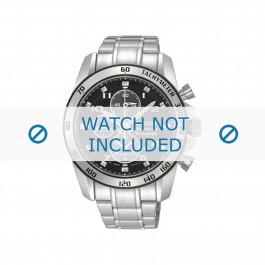 Seiko bracelet de montre SNAE61P1 / 7T62-0KV0 02B / 7D48-0AK0 / M0ND111J0 Métal Argent 21mm