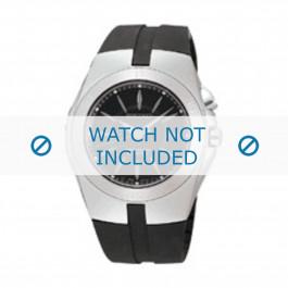 Seiko bracelet de montre 5M62-0AL / SKA203J2 Caoutchouc Noir 16mm