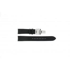 Bracelet de montre Seiko 7D46-0AB0 / SNP015P1 / 4LA8JB Cuir Noir 20mm