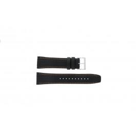 Bracelet de montre Seiko 7T62-0HL0 / SNAB59P1 Cuir Noir 24mm