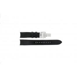 Seiko bracelet de montre SNA741P2 / 7T62-0GE0 Cuir Noir 22mm + coutures noires