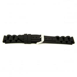Bracelet de montre Universel XI12 Silicone Noir 24mm