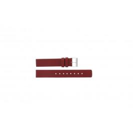 Skagen bracelet de montre 224SSLR Cuir Rouge 16mm