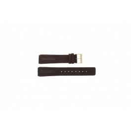 Bracelet de montre Skagen 433LGL1 Cuir Brun 18mm