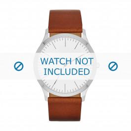 Bracelet de montre Skagen SKW6331 Cuir Cognac 22mm