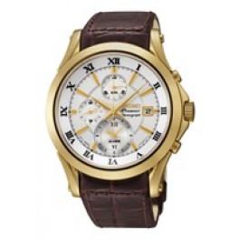 Bracelet de montre Seiko 7T62-0JW0 / SNAF22P1 / 4A071KL Cuir Brun 21mm