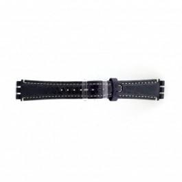 Bracelet de montre Swatch (alt.) ES.IRON-2.05 Cuir Bleu 19mm