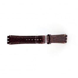 Bracelet de montre Swatch (alt.) ES.IRON-2.02 Cuir Brun 19mm