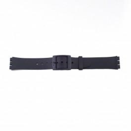 Bracelet de montre Swatch (alt.) P51 Plastique Noir 17mm