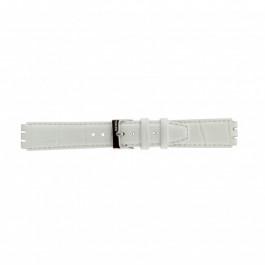 Bracelet de montre Swatch (alt.) 21414.11 Cuir Blanc 17mm