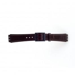 Bracelet de montre Swatch (alt.) SC04.02 Cuir Brun 17mm