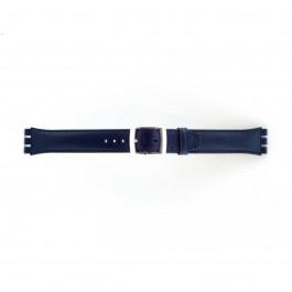 Bracelet de montre Swatch (alt.) 51643.06.MB Cuir Bleu 19mm