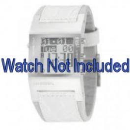 Bracelet de montre Diesel DZ7043 Cuir Blanc 24mm