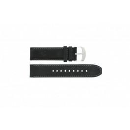 Bracelet de montre Timex P49988 Cuir Noir 22mm
