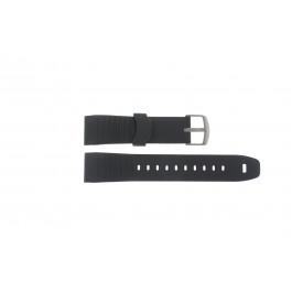 Bracelet de montre Timex TW2P44300 / TW2P44600 Caoutchouc Noir 22mm