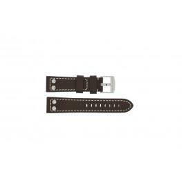 Bracelet de montre Universel 2844.02 Cuir Brun 24mm