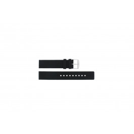 Bracelet de montre Universel 21901.10.18 / 6826 Silicone Noir 18mm