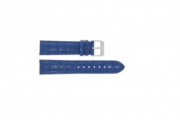 Croc en cuir bleu 24mm PVK-285