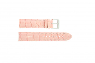 24mm en cuir rose croco PVK-285